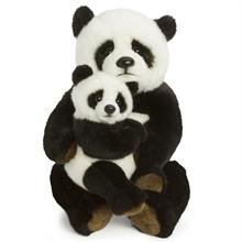 WWF Maman Panda 28 cm, avec bébé
