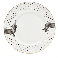 YE - Assiette plate 26 cm Mono Party Teckel