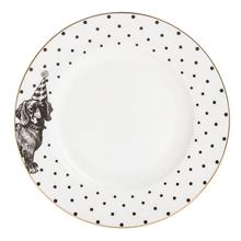 YE - Assiette plate 16 cm Mono Party Teckel