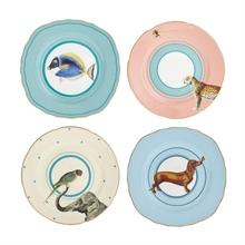 YE - Coffret 4 assiettes 16,5 cm animaux