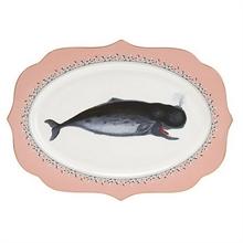YE - Plat oval 35 cm Baleine