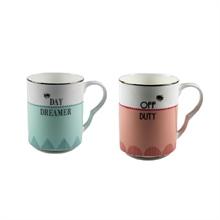 YE - Coffret 2 mugs 28 cl Day Dreamer / Off Duty