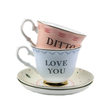 YE - Coffret 2 Paire Tasse thé 28 cl Love You / Ditto