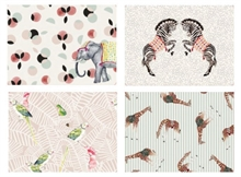 YE - Lot 4 sets de table Carnaval Animaux