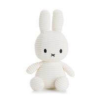 Miffy - Lapin velour cotelé blanc - 24 cm