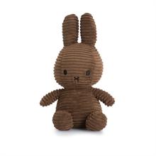 Miffy - Lapin velour cotelé marron - 24 cm
