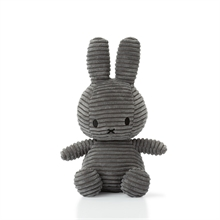 Miffy - Lapin velour cotelé anthracite - 24 cm