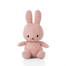 Miffy - Lapin velour cotelé rose - 24 cm