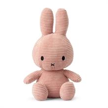 Miffy - Lapin velours cotelé rose - 33 cm - %