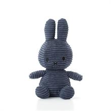 Miffy - Lapin velour cotelé bleu nuit - 24 cm