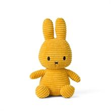 Miffy - Lapin velour cotelé moutarde - 24 cm