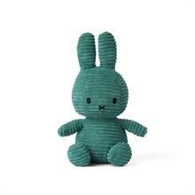 Miffy - Lapin velour cotelé vert - 24 cm