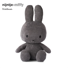 Miffy - Lapin velours cotelé anthracite - 50 cm - %