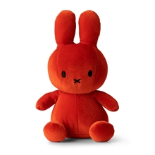 Miffy - Lapin velours orange bonbon  - 24 cm - %
