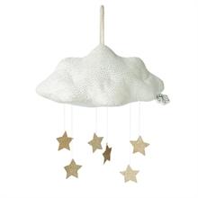 Picca Loulou - Nuage blanc en velours côtelé avec étoiles - 34 cm - %