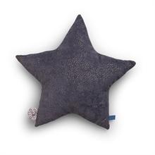 Picca Loulou - Coussin étoile en velour côtelé gris - 30 cm - %