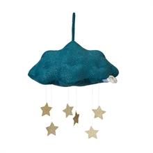 Picca Loulou - Nuage bleu en velours côtelé avec étoiles - 34 cm - %