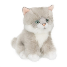 ACP Chat Ragdoll gris/blanc assis - 15 cm - #
