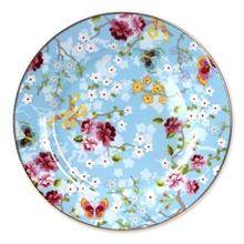 Assiette présentation Chinese rose Bleu - 32cm