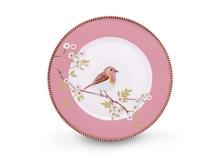 Assiette dessert Floral2 Oiseau Rose - 21cm
