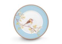 Assiette dessert Floral2 Oiseau Bleu - 21cm