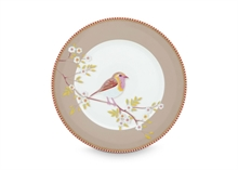 PIP - Assiette dessert Early Bird Kaki - 21cm