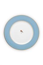 PIP - Love Birds Assiette plate Bleu - 26,5cm