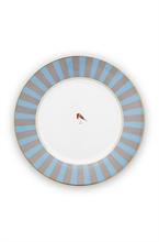 PIP -  Assiette plate Love Birds Bleu/Kaki - 26,5cm