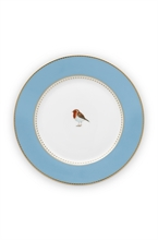 PIP - Love Birds Assiette à pain Bleu - 17cm