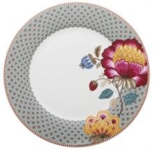 Assiette plate Floral Fantasy Blooming tails Bleu - 26,5cm