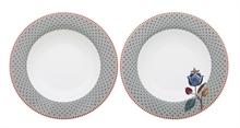 HC3 PIP Coffret 2 assiettes creuses 20,5cm Flo Fantasy/Bloom Bleu#
