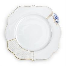 PIP Assiette plate Royal Blanc décoré - 28cm
