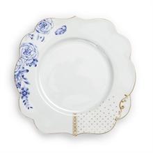 PIP Assiette dessert Royal Blanc décoré - 23,5cm