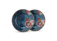 HC4 PIP Coffret 2 Assiettes à pain Flo Spring to Life Bleu - 17cm#