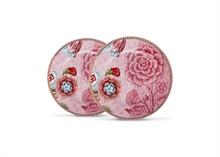 HC3 PIP Coffret 2 Assiettes à pain Flo Spring to Life Rose - 17cm#