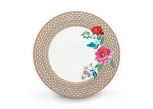 PIP Assiette plate Floral2 Rose kaki - 26.5cm