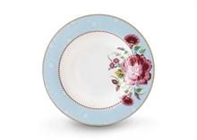 PIP Assiette creuse Floral2 Rose bleu - 21.5cm