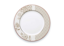 Assiette plate Floral Spring to life Blanc - 26.5cm