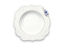 PIP Assiette creuse Royal Blanc décoré - 23,5cm