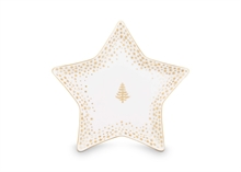 PIP Assiette Petit Four Royal Christmas Blanc - 9cm