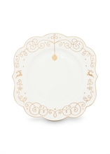 HC6 PIP Assiette à pain Royal Christmas Blanc - 17cm - #