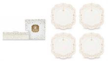 PIP Coffret de 4 Assiettes à pain Royal Christmas Blanc - 17cm