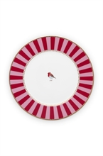 PIP - Assiette à pain Love Birds Rouge/Rose - 17cm