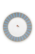 PIP - Assiette à pain Love Birds Bleu/Kaki - 17cm