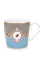 PIP - Love Birds Grand mug Médaillon Bleu/Kaki - 250ml