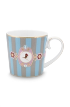 PIP - Love Birds Grand mug Bande Bleu/Kaki - 250ml