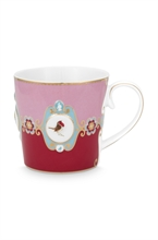 PIP - Love Birds Grand mug Médaillon Rouge/Rose - 250ml