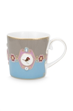 PIP - Love Birds Petit mug Bleu/Kaki - 150ml