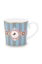 PIP - Love Birds Petit mug Bande Bleu/Kaki - 150ml