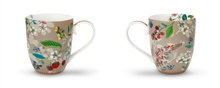Maxi mug Floral2 Hummingbirds kaki - 45cl